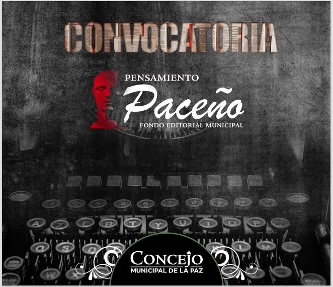 CONVOCATORIA «PENSAMIENTO PACEÑO»